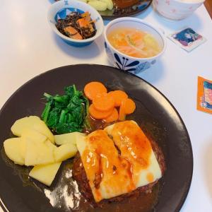 #ハンバーグ #汉堡肉 #お母さんの料理 #今日の夕飯 #晚饭 #非常美味