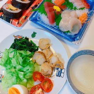 #ほたてのバター焼き #sashimi #お刺身 #晚饭 #今天的晚餐 #haixian