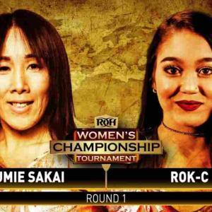 ROH女子王座決定トーナメント開幕!坂井澄江対ロックC!【ROH・#515】