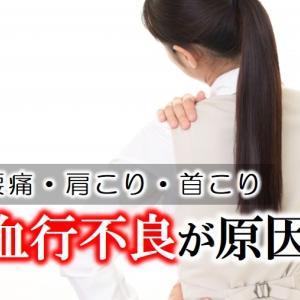【腰痛・肩こり・首こりは血行不良が原因!】血行不良が起こる要因と血行を促進する方法を解説