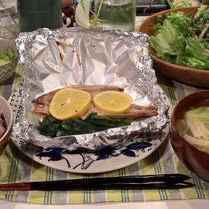 Dinner ほっけのレモンバターホイル焼き