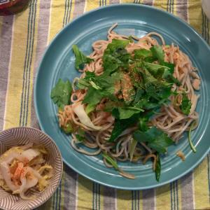 Lunch 葉玉ねぎの海老塩焼き蕎麦