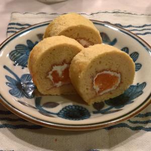 【卵1個でお菓子】杏ヨーグルトロール