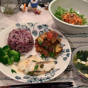 Dinner 鱈のポワレ ラタトュイユ添え