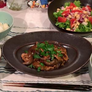 Dinner 八丁味噌の麻婆茄子