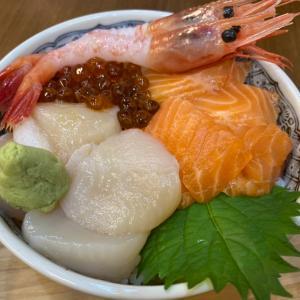 函館朝市巡り(13)マルイシ食堂で、イカと海鮮丼