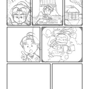 団蔵&左吉漫画の進捗 その1