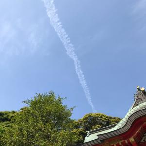 江島神社で静かなる船出をする