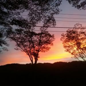 八王子の夕日