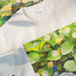a-460 春 花 紫陽花 Spring flower hydrangea Tシャツ