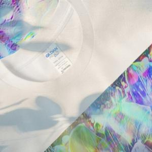 a-499 虹色の朝 Rainbow-colored morning Tシャツ