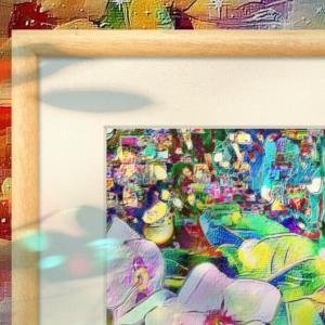 a-541 明るいデジタルネガティブ花 Bright digital negative flowers プリモアート(複製画)