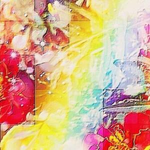 作品: 花 虹色の分断 Flower rainbow color division : 戒's gallery