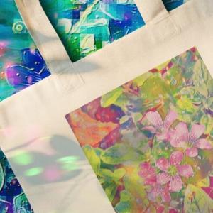 a-544 スペクトラム フラワー Spectrum Flowers エコバッグ
