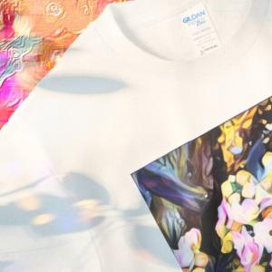 a-547 午後 花達 Afternoon flowers Tシャツ
