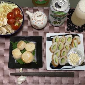 ぶりの西京漬と、厚揚げと小松菜の煮浸し