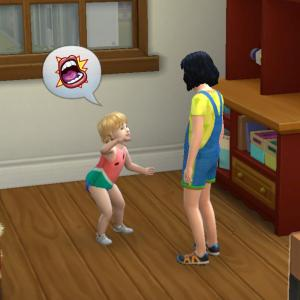 【sims4】-100baby-燃焼