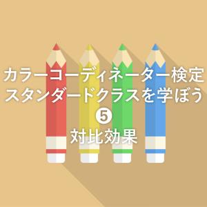 【カラーコーディネーター検定レッスン 5 – ❹】対比効果