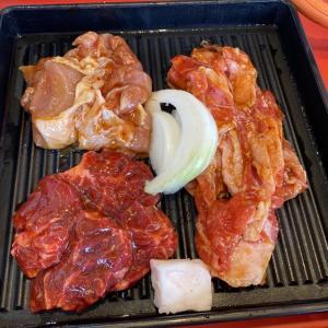 「肉のサトウ商店 江崎本店」のランチ焼肉定食A(中区江崎)【おにさんぽグルメ】