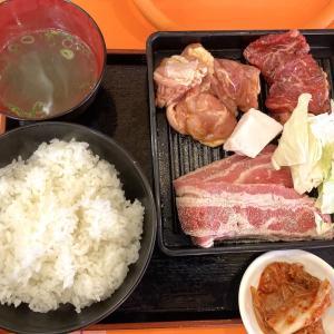 「肉のサトウ商店 錦町店」の「A定食」【おにさんぽグルメ】