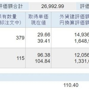 海外資産(2021.9) 4週目