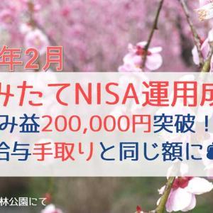 【2021年2月】つみたてNISA運用成績公開!|含み益が給与手取りと同じ20万円突破!