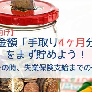 【新社会人向け】貯金額「手取り4ヶ月分」をまず貯めよう!|万一の時の生活防衛資金