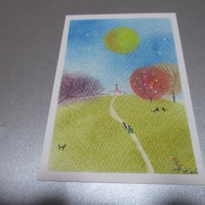 すごいはやいおはようございます!さて、今日のパステル画。
