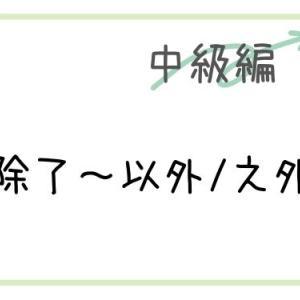 【中国語】「除了〜以外/之外」除外や追加を表す構文