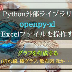 (作成中)Pythonライブラリ(openpyxl)でExcelグラフを作成する手順(折れ線、棒グラフ、散布図ほか)【徹底解説】