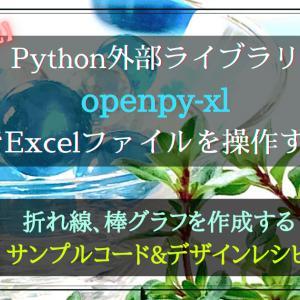 Pythonライブラリ(openpyxl)によるExcel「折れ線グラフ」の作り方とデザインレシピ【徹底解説】