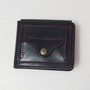 二つ折り財布(BOX小銭入れ付き)をヤフオク!に出品