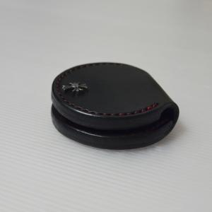栃木ブラックサドルレザーのコインケースをメルカリに出品