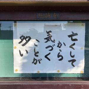 お寺の掲示板『亡くしてから気づくことが多い』