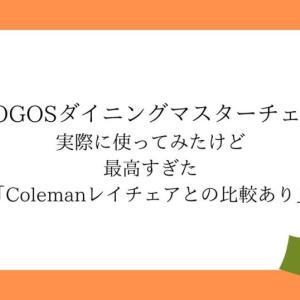 LOGOS ダイニングマスターチェアを実際に使ってみたけど最高すぎた「レイチェアとの比較あり」