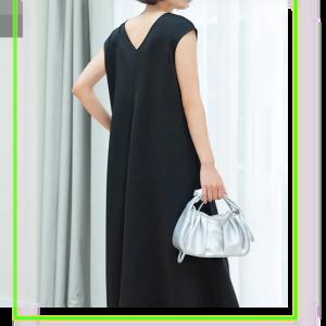 Vネックフレアワンピース通販-タクミンブログレディースファッション-
