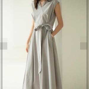 スキッパーネック2WayAラインワンピース通販-タクミンブログレディースファッション-