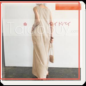 ワンピースポケット付きノースリーブ通販Taidobuy-レディースファッションタクミンブログ-