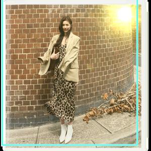 レオパード柄ロングキャミワンピース通販-レディースファッションタクミンブログ-