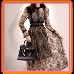 ブラックレースワンピース通販-レディースファッションタクミンブログ-