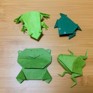 カエルの折り紙に挑戦!色んなカエルを作ってみよう♪