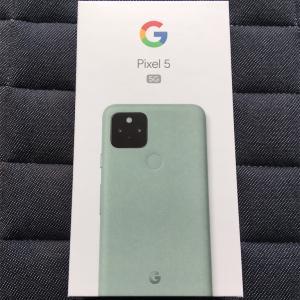 スマホをGoogle pixel 5に替えました。