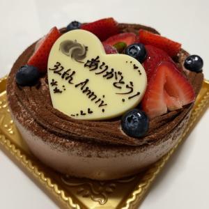 32年目の「keyuca」のチョコ生ケーキ