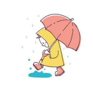 雨の中のお出かけと、娘が幼稚園の頃の徒歩通園のこと