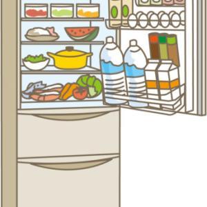 日曜日朝、冷蔵庫の中はほとんど空