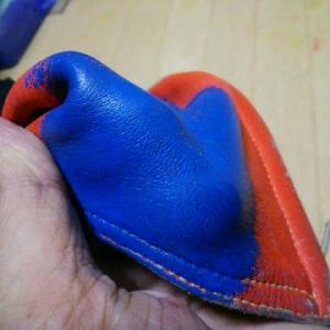 革ツナギの補修 其の二 固着力テスト