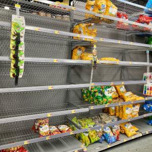 スーパーの棚が・・