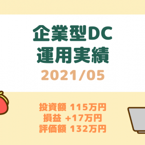 【確定拠出年金】運用実績(2021年5月)