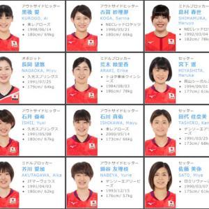 2021年度バレーボール女子日本代表メンバーが発表されました!JTの籾井選手が初選出!