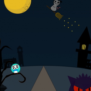 Pagesの図形のみでお絵描き ハロウィンver